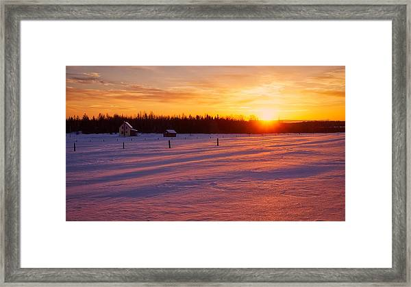 Framed Print featuring the photograph Winter's Glow by Bryan Smith