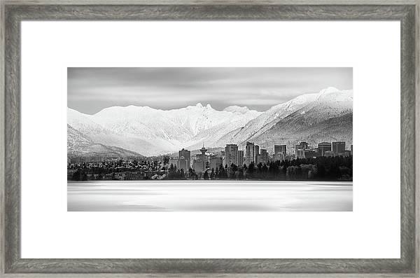 Winterscape Vancouver Framed Print