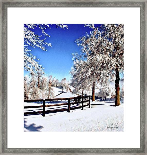 Wintry Lane Framed Print