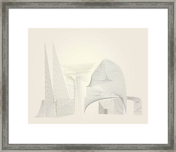 Wire Folly Complex Framed Print