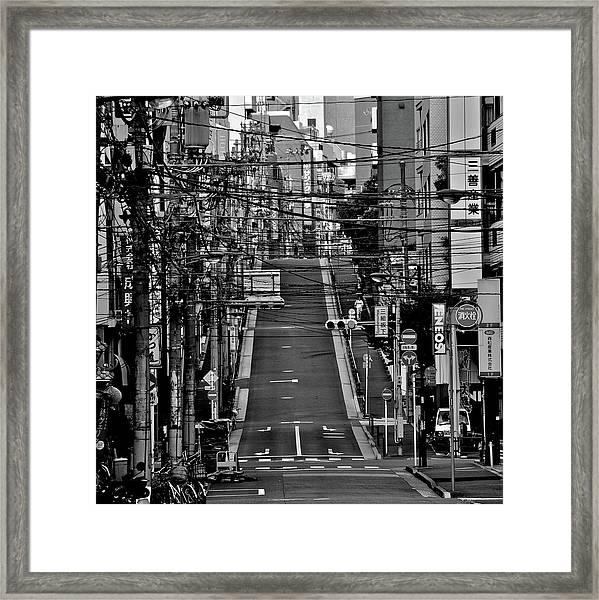 Wire Street In Yushima Framed Print