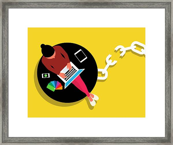 Wireless Technology Freeing Creative Framed Print by Ikon Images