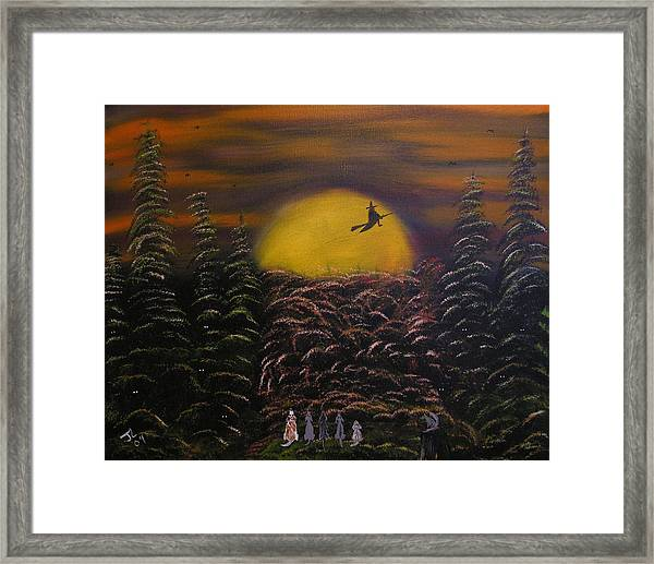 Witch At Night Framed Print