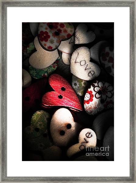 With Sentiment In The Sewing Box Framed Print