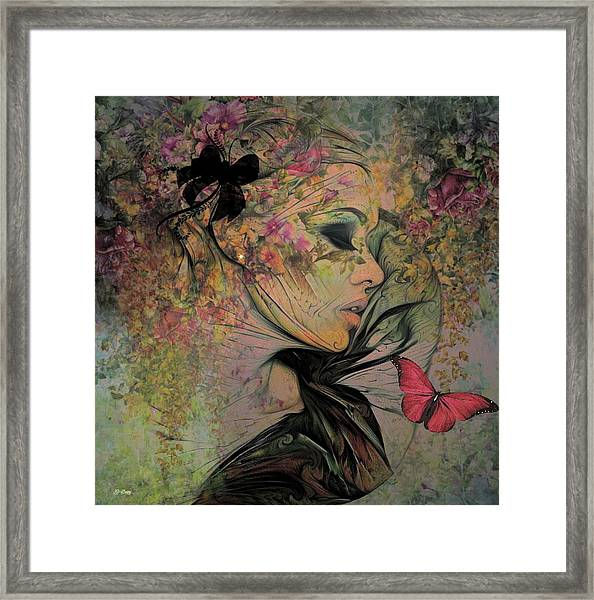 With The Grace Of A Woman 002 Framed Print