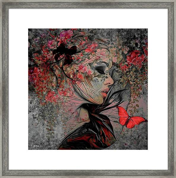 With The Grace Of A Woman Framed Print