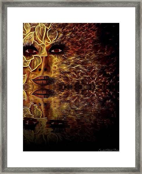 Wizard Of Flowers And Fire 1 Framed Print