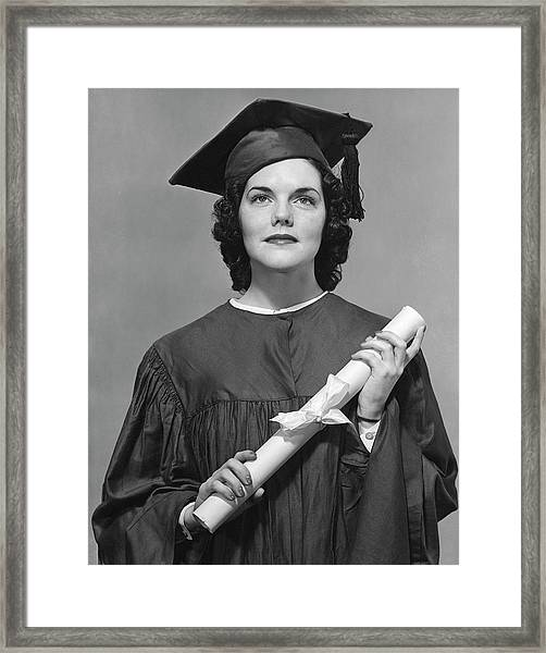Woman Who Graduated Framed Print