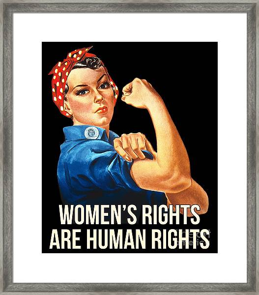 Womens Rights Are Human Rights Tshirt Framed Print