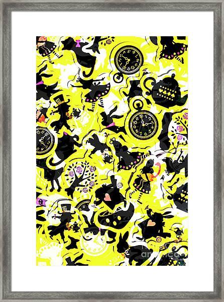 Wonderland Design Framed Print