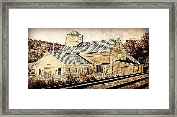 Wood Workers Shop Roxbury Vermont Framed Print