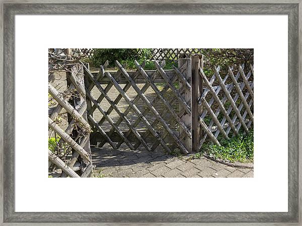 Wooden Fence Framed Print
