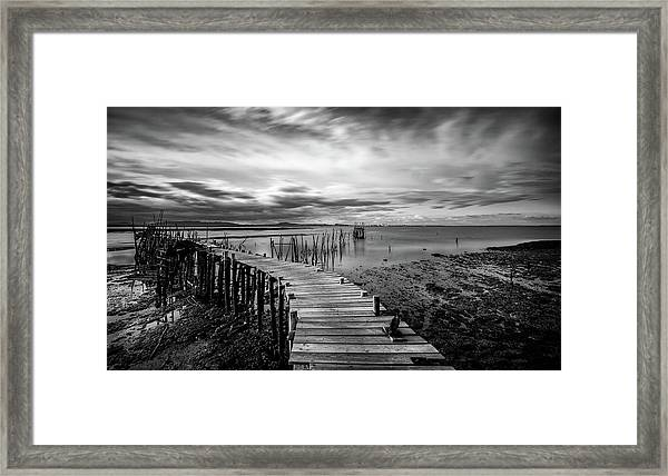 Wooden Fishing Piers Framed Print