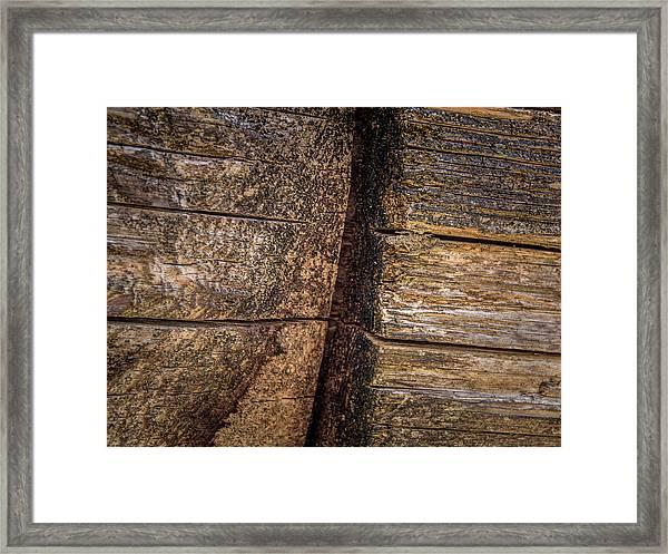 Wooden Wall Framed Print