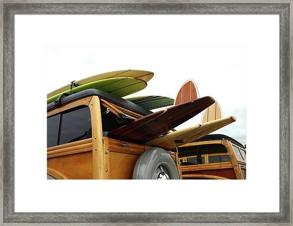 Woodies On The Wharf Framed Print