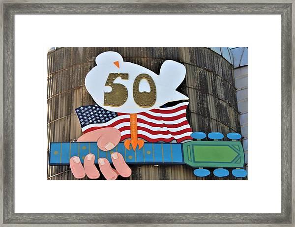 Woodstock 50th Anniversary Framed Print