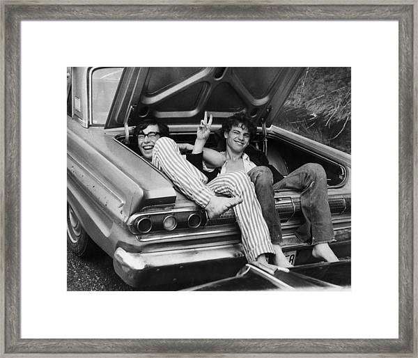 Woodstock Hitchers Framed Print