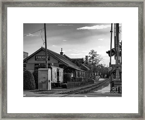 Woodstock Train Depot Framed Print by Elijah Knight
