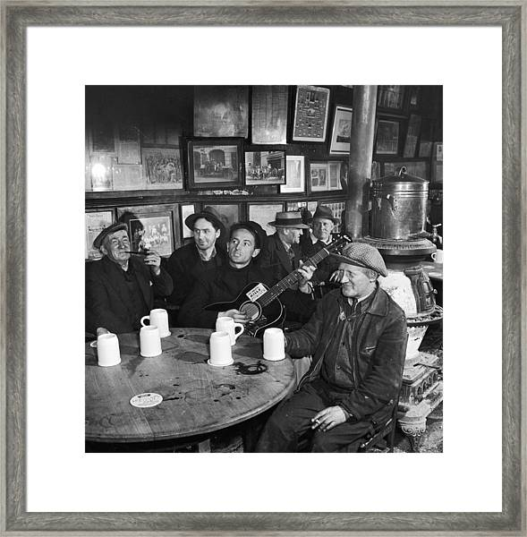Woody Guthrie Framed Print by Eric Schaal