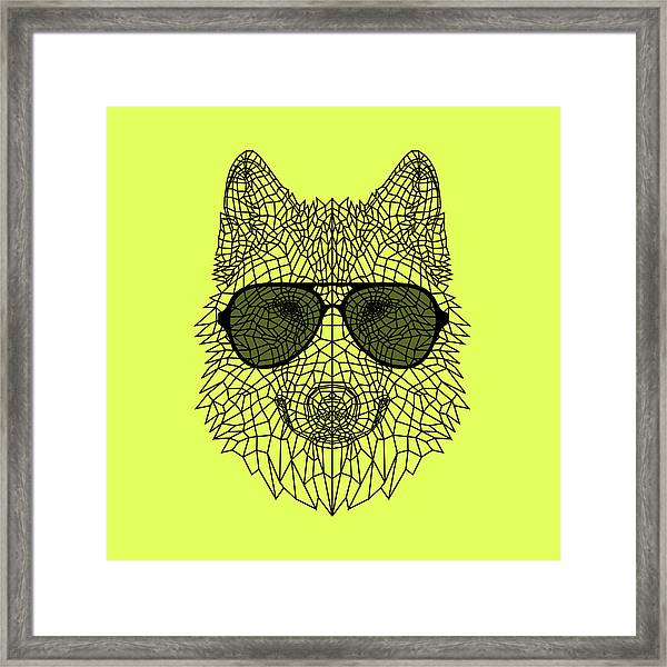 Woolf In Black Glasses Framed Print