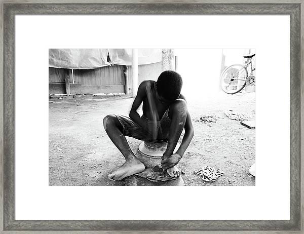 Work Till Ageless  Framed Print