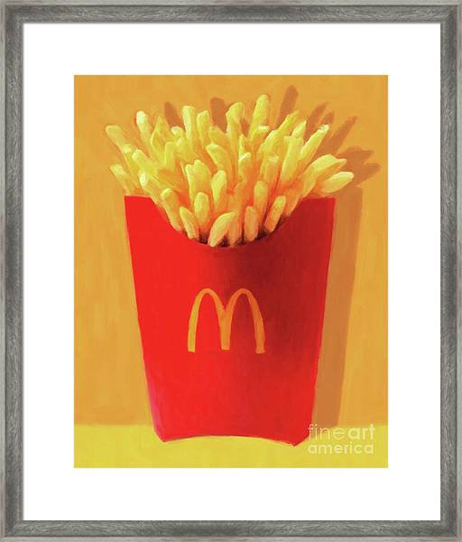 Worship The Golden Mcdonalds French Fries Arch Pop Art 20180920 Framed Print