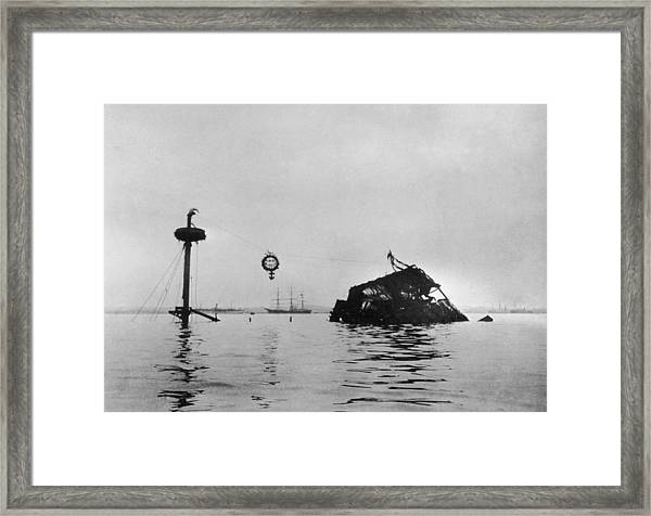 Wreck Of The Maine Framed Print