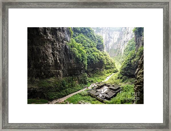 Wulong National Park, Chongqing, China Framed Print