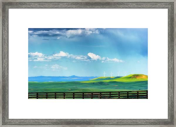 Wyoming Vast Landscape  Framed Print