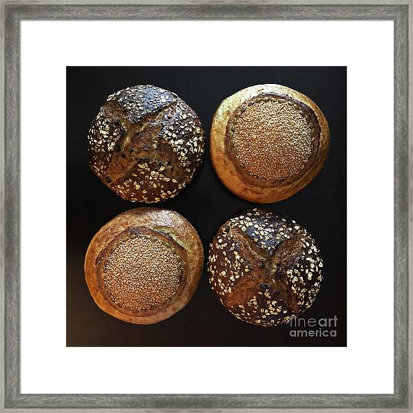 Framed Print featuring the photograph X And O Sourdough by Amy E Fraser