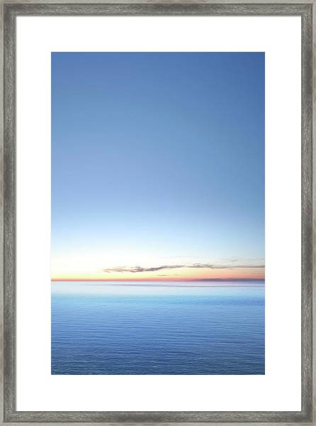 Xxxl Serene Twilight Lake Framed Print by Sharply done