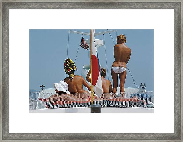 Yacht Holiday Framed Print