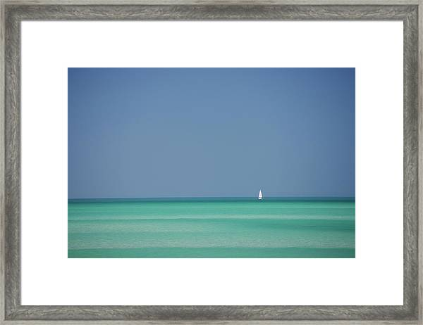 Yacht In Gulf Of Mexico, Florida, Usa Framed Print