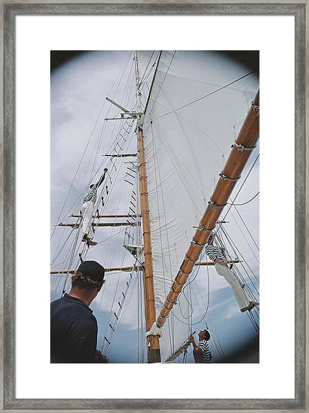 Yachting Crew In Lyford Cay Framed Print