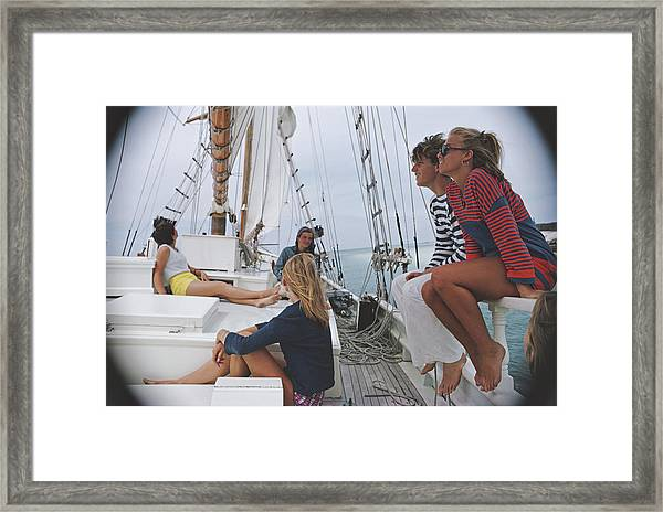 Yachting In Lyford Cay Framed Print