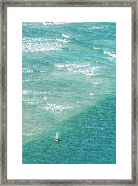 Yachting In The Breede River Estuary Framed Print