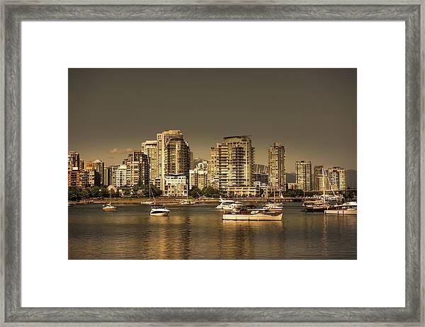 Yaletown Golden Hour Framed Print