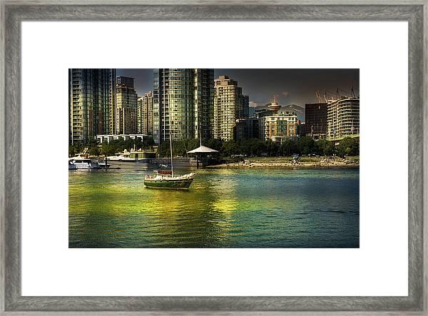 Yaletown Sunset Framed Print