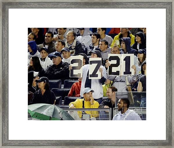 Yankee Fans Document The Number Of Framed Print