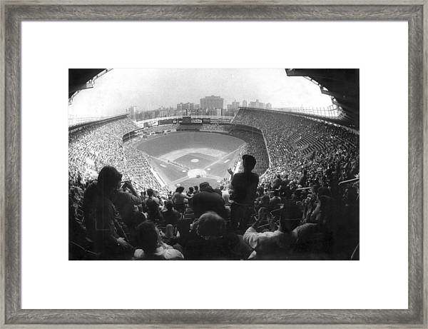 Yankee Stadium Is Packed For The New Y Framed Print
