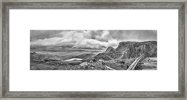 Yellow Autumn Panoramic Bw #i1 Framed Print