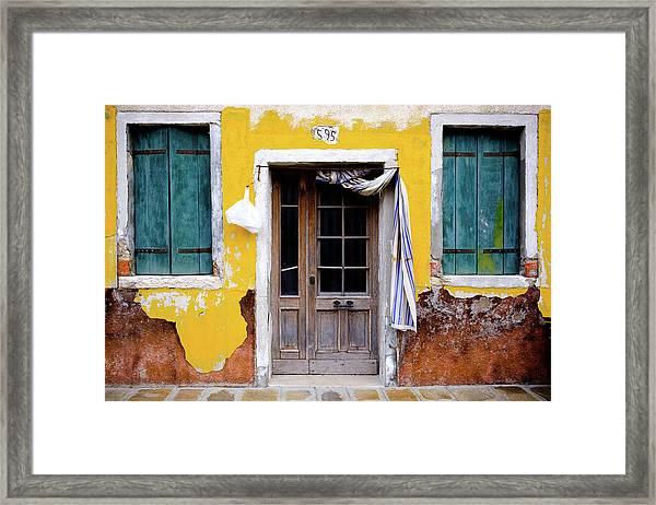 Yellow Doorway Framed Print