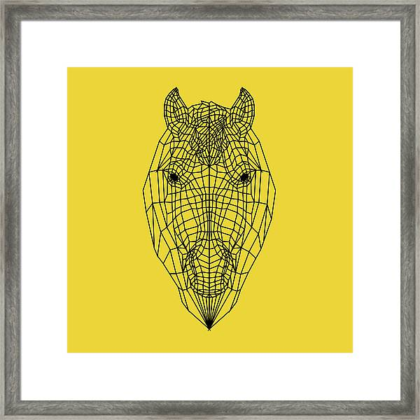 Yellow Horse Framed Print