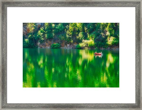 Framed Print featuring the photograph Yellow Lake by Bryan Smith