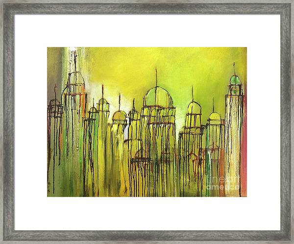 Yellow Mosque  Framed Print