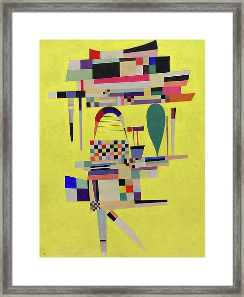 Yellow Painting - La Toile Jaune, 1938 Framed Print