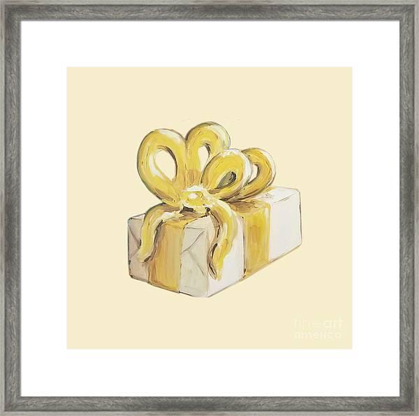 Yellow Present Framed Print