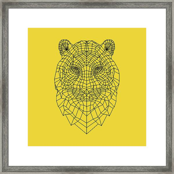 Yellow Tiger Framed Print