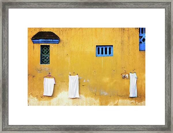 Yellow Wall Framed Print