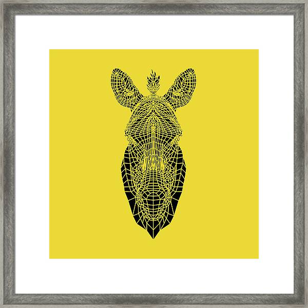 Yellow Zebra Framed Print